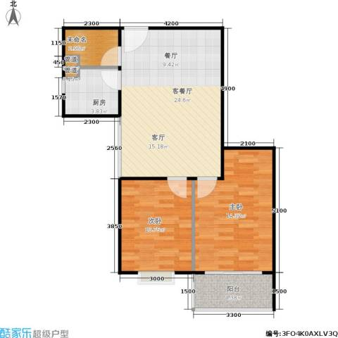 山大新苑2室1厅0卫1厨82.00㎡户型图