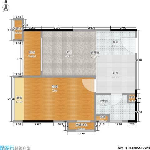 广州奥林匹克花园1卫0厨57.00㎡户型图