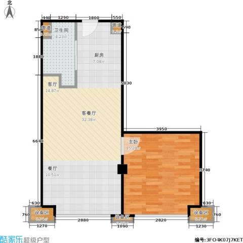东城国际公寓1室1厅1卫0厨73.00㎡户型图