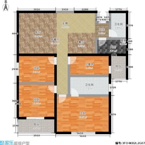 东方广场4室1厅2卫1厨130.00㎡户型图