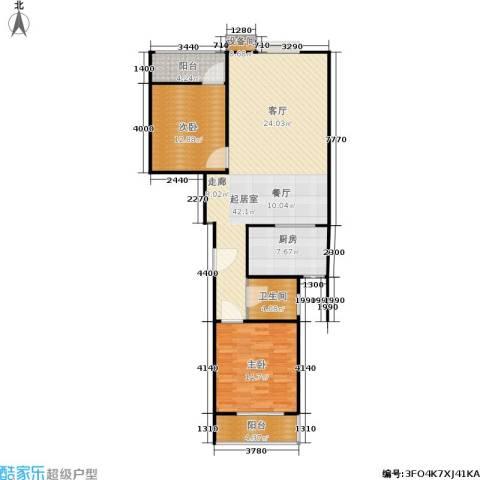君逸左岸2室0厅1卫1厨122.00㎡户型图