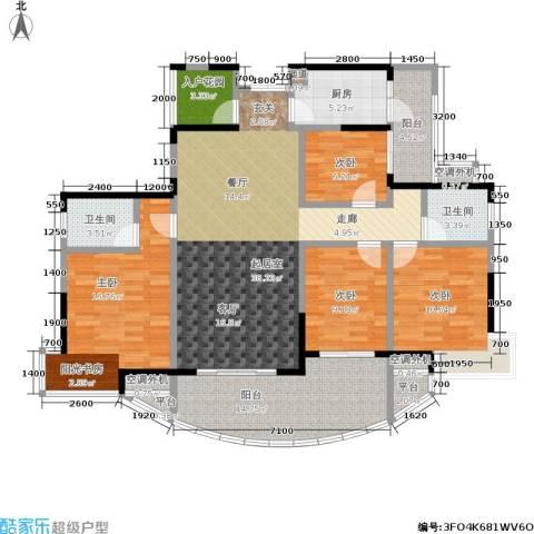 融科紫檀4室0厅2卫1厨143.00㎡户型图