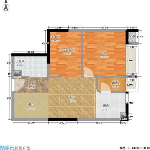 乐客来国际商业中心1室1厅1卫0厨62.00㎡户型图