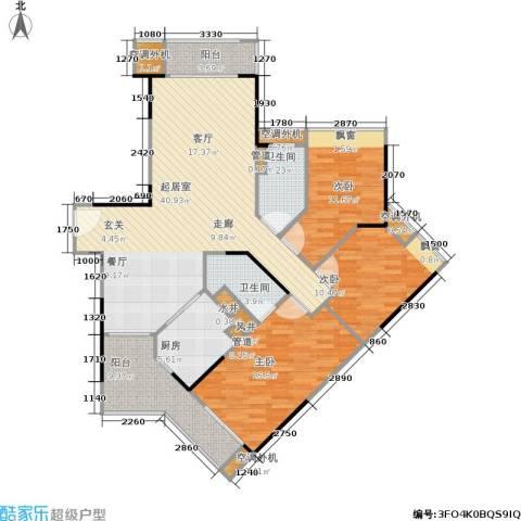 广州奥林匹克花园3室0厅2卫1厨127.00㎡户型图