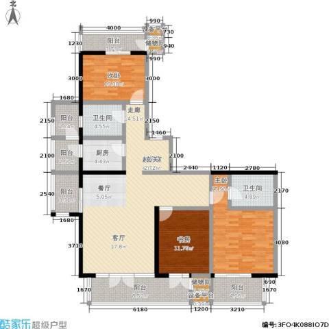 望庭国际3室0厅2卫1厨121.00㎡户型图