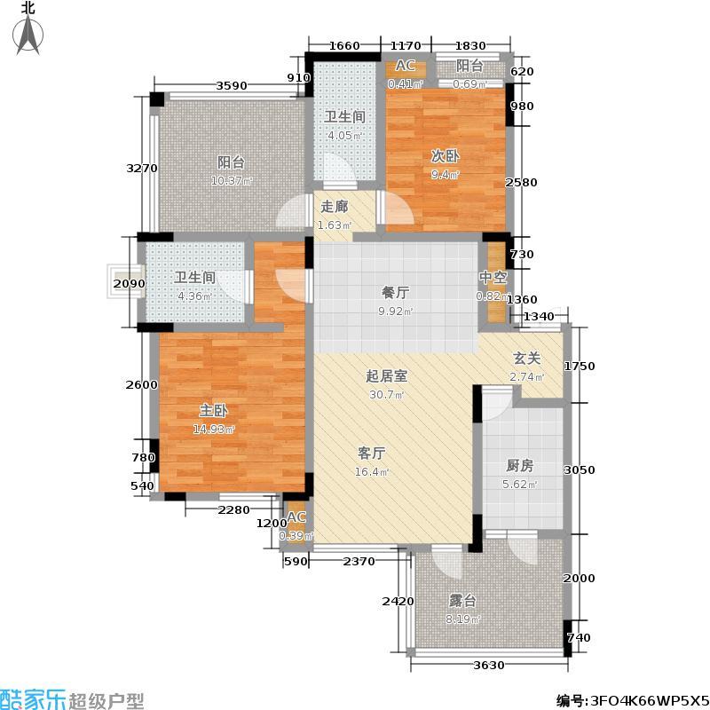 巨豪香溪美林85.22㎡巨豪香溪美林 E型五层 2室2厅2卫1厨85.22㎡户型