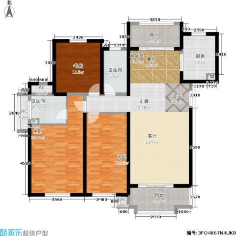 东方米兰国际城3室0厅2卫1厨141.00㎡户型图
