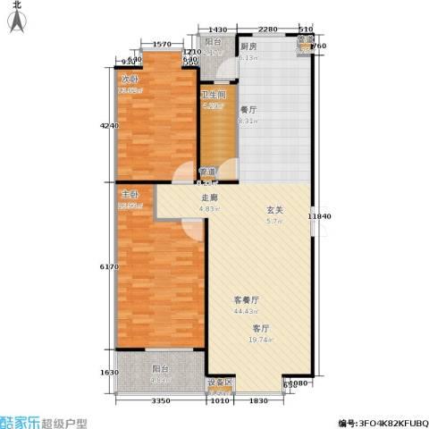 京鲁山庄2室1厅1卫0厨116.00㎡户型图