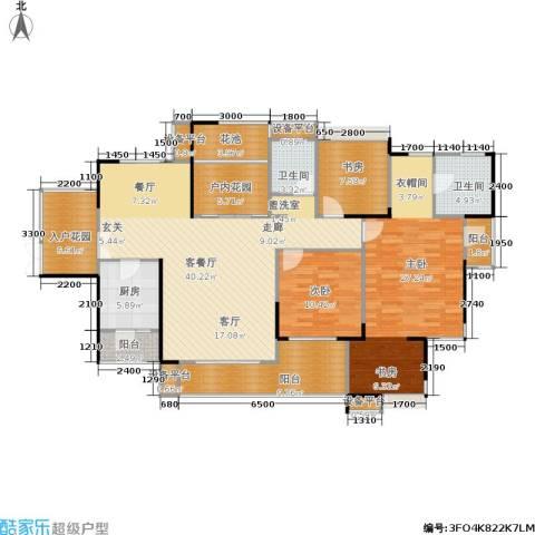 长房南屏锦源3室1厅2卫1厨132.89㎡户型图