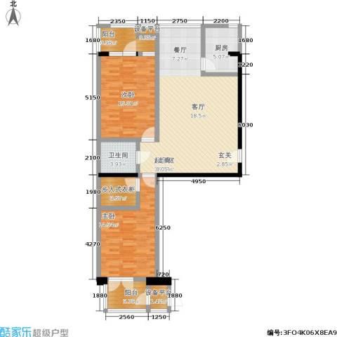 望庭国际2室0厅1卫1厨114.00㎡户型图