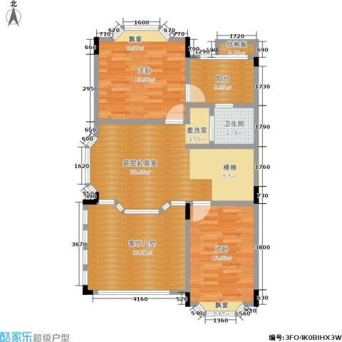 保利林语山庄2室0厅1卫0厨269.00㎡户型图