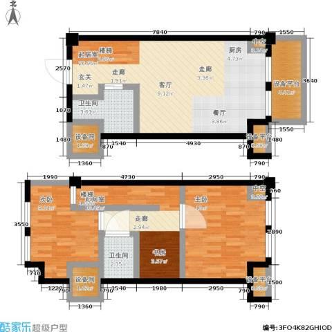 沧海御庭2室0厅2卫0厨74.51㎡户型图