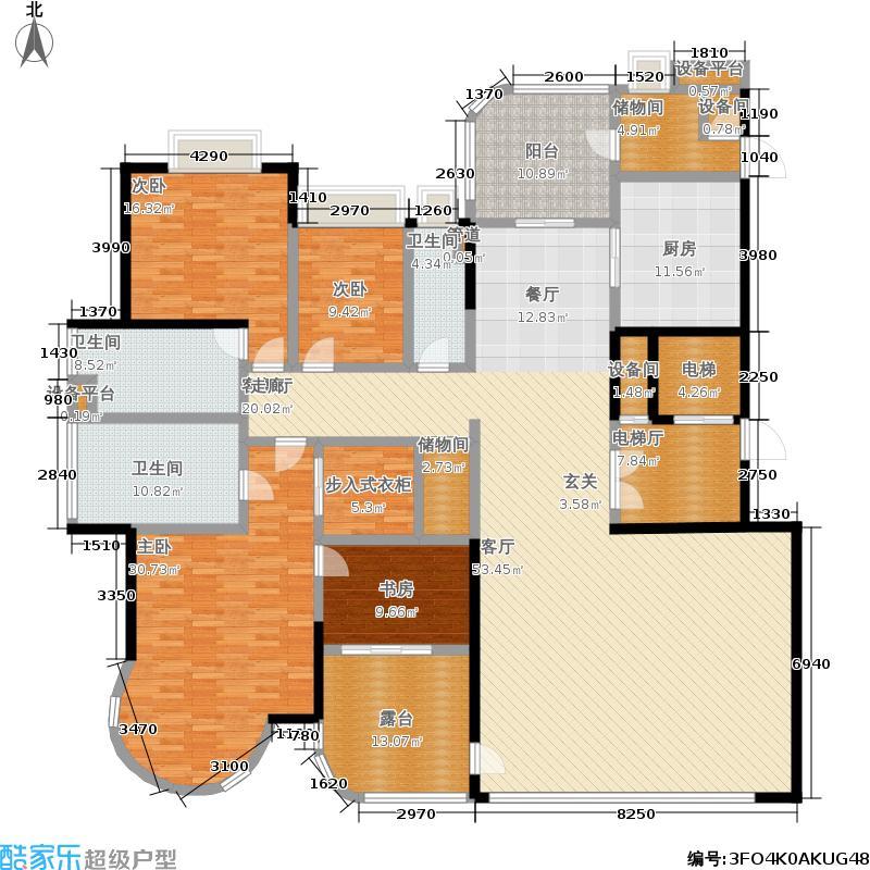 珠江御景湾户型4室1厅3卫1厨