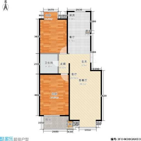 京鲁山庄2室1厅1卫0厨101.00㎡户型图