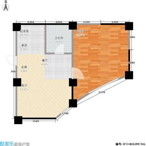 水木华庭1室0厅1卫0厨72.00㎡户型图