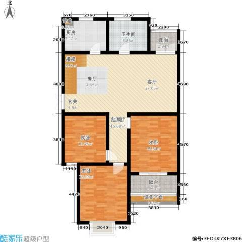 大地之歌3室1厅1卫1厨129.00㎡户型图