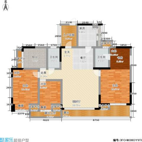 海语山林3室1厅2卫1厨183.00㎡户型图