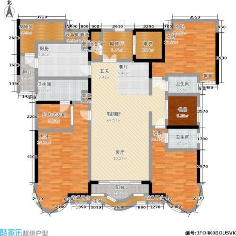 珠江御景湾4室1厅3卫1厨244.00㎡户型图