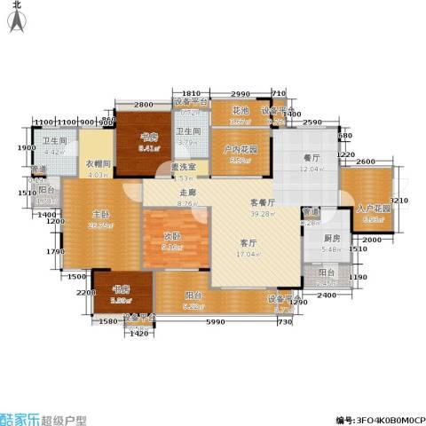 长房南屏锦源3室1厅2卫1厨140.00㎡户型图