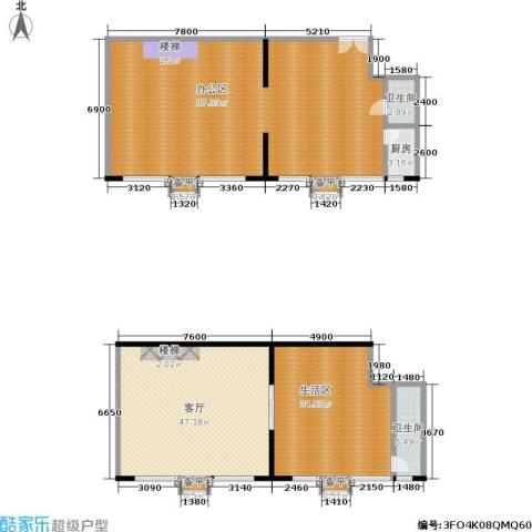 望庭国际1厅2卫1厨244.00㎡户型图