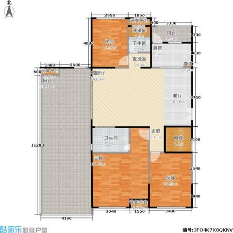联发五缘湾1号3室1厅2卫1厨214.00㎡户型图
