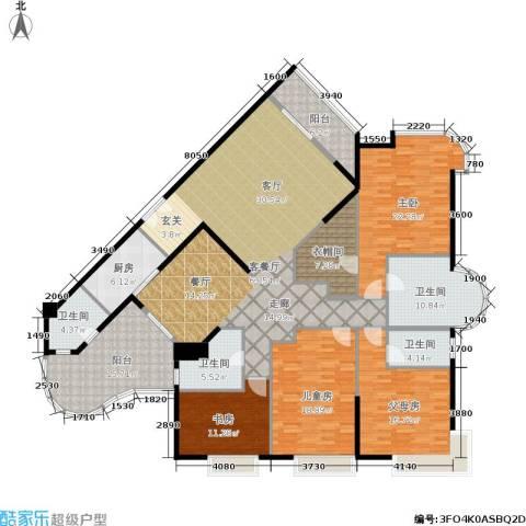 华标涛景湾3室1厅4卫1厨210.00㎡户型图