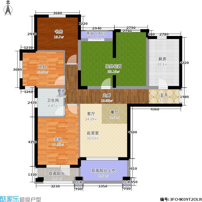 中海华庭134.00㎡高层D1户型