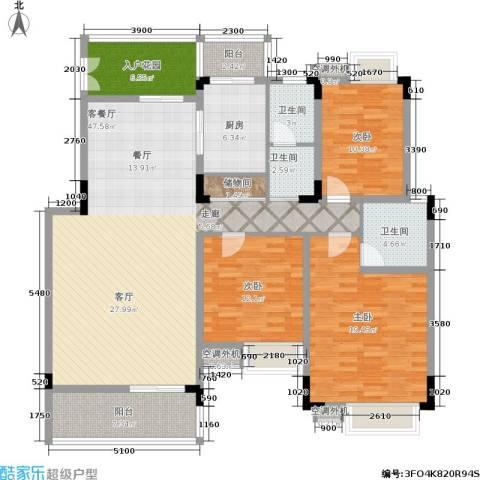 华润澜溪镇3室1厅3卫1厨178.00㎡户型图