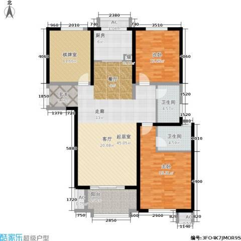 东方米兰国际城2室0厅2卫1厨159.00㎡户型图