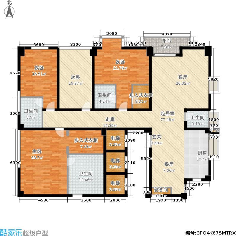 锦绣唐朝户型4室4卫