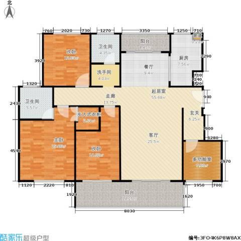 建大教授花园3室0厅2卫1厨200.00㎡户型图