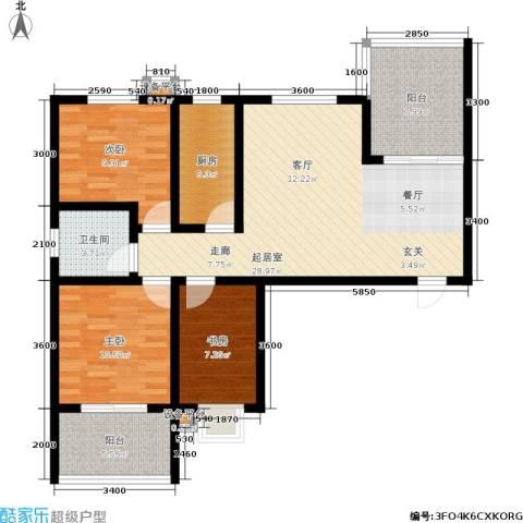 康城静林湾3室0厅1卫1厨115.00㎡户型图