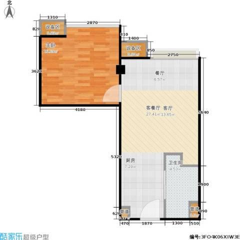东城国际公寓1室1厅1卫0厨67.00㎡户型图