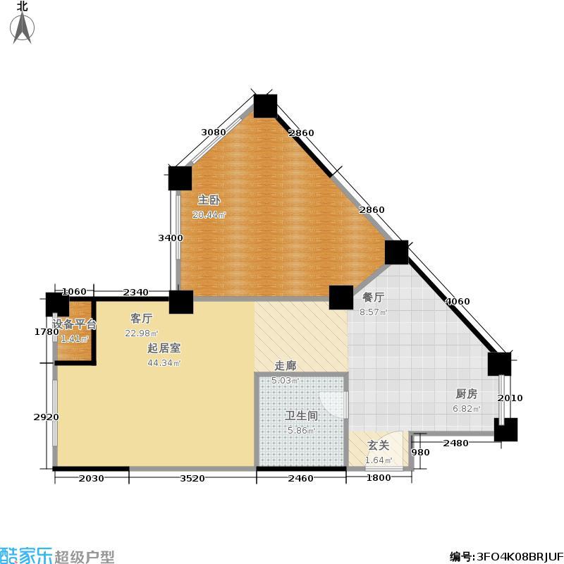 水木华庭户型1室1卫