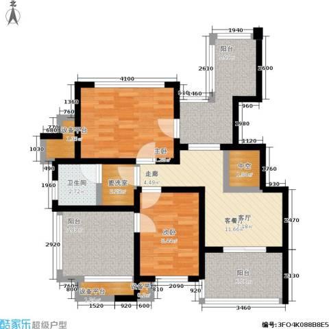 城市枫景2室1厅1卫0厨79.00㎡户型图