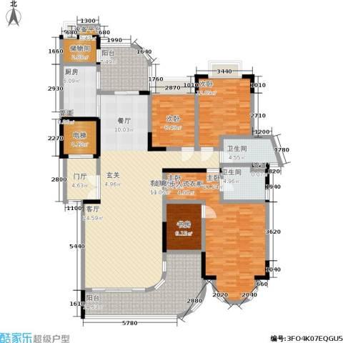 珠江御景湾4室1厅2卫1厨201.00㎡户型图