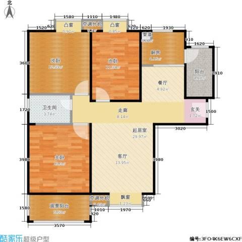 鸿基新城3室0厅1卫1厨101.00㎡户型图
