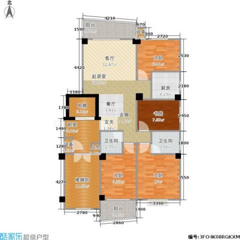 香江世纪名城4室0厅2卫1厨119.00㎡户型图