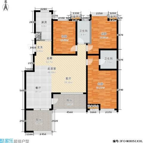 中齐他山3室0厅2卫1厨150.00㎡户型图