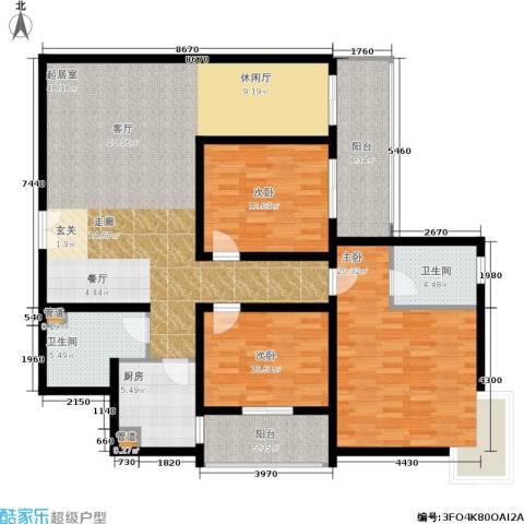 中登家园3室0厅2卫1厨138.00㎡户型图