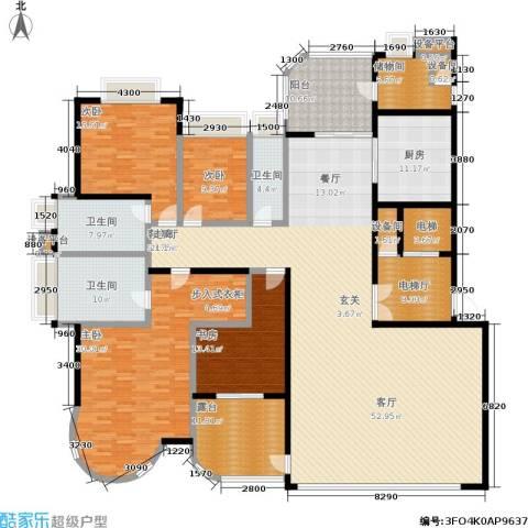 珠江御景湾4室1厅3卫1厨283.00㎡户型图