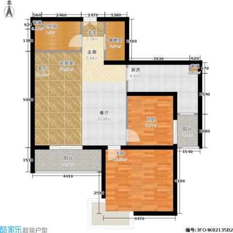 中登家园2室0厅1卫1厨97.00㎡户型图