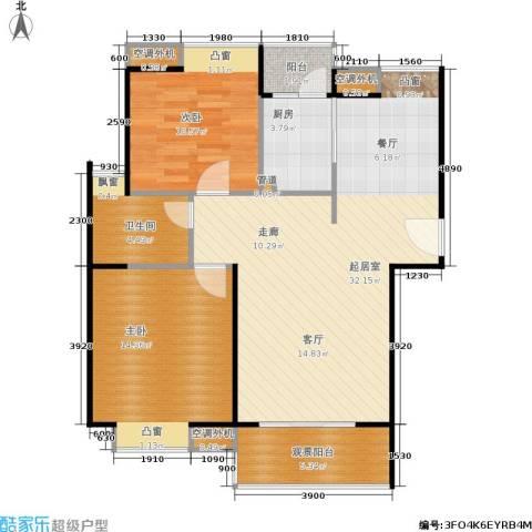 鸿基新城2室0厅1卫1厨93.00㎡户型图