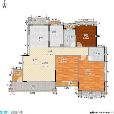 丹霞翠微苑3室0厅2卫1厨122.21㎡户型图