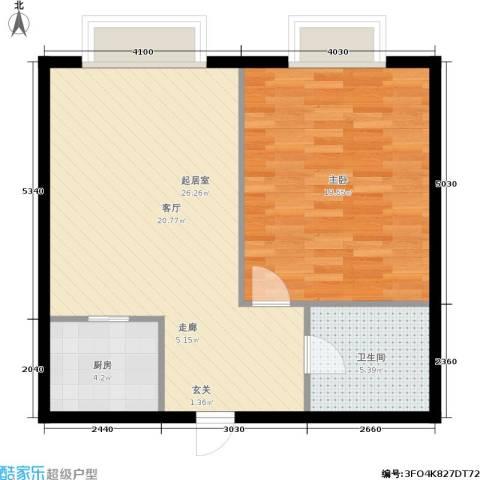 佳馨花园1室0厅1卫1厨57.00㎡户型图