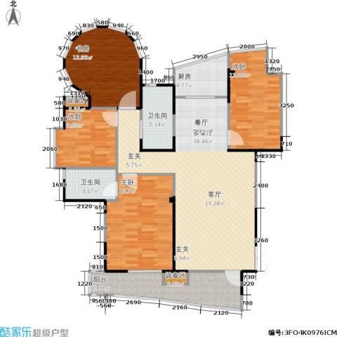 振业山水名城4室1厅2卫1厨122.65㎡户型图