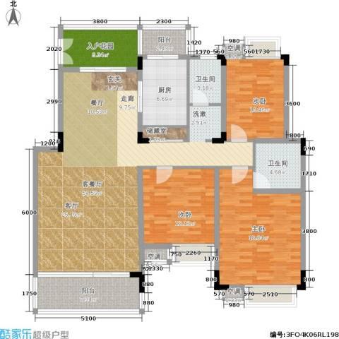 华润澜溪镇3室1厅2卫1厨177.00㎡户型图