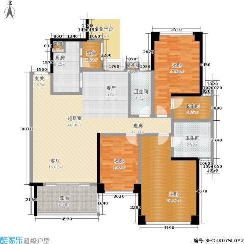 汇峰苑3室0厅3卫1厨165.00㎡户型图