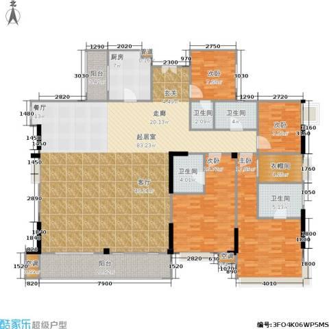 滨江瑞城4室0厅4卫1厨217.00㎡户型图
