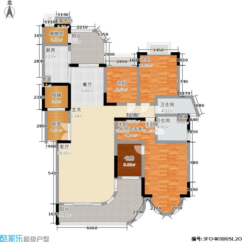 珠江御景湾户型4室1厅2卫1厨